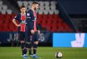 Mauro Icardi et Ander Herrera avec le PSG le 21 février 2021 au Parc des Princes