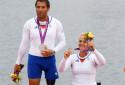 Stéphane Tardieu et Perle Bouge le 2 septembre 2012 à Londres