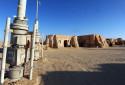 Un plateau de tournage où de nombreuses scènes de Star Wars ont été tournées à Ong Jmal, dans le sud de la Tunisie.