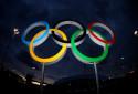 Les anneaux olympiques à Rio en 2016