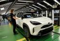 Un modèle de Yaris Cross dans l'usine Toyota de Valenciennes.
