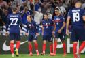 T. Hernandez, Griezmann, Dubois, Varane et Benzema avec les Bleus à Lyon le 7 septembre 2021