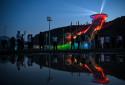 Le centre national de saut à ski chinois à Zhangjiakou le 14 juillet 2021