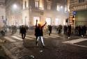 Une rue de Rome, samedi 9 octobre, en marge d'une manifestation anti-passe sanitaire