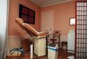 Photo d'illustration d'un cabinet de gynécologue à Arcueil (Val-de-Marne) en 2001.