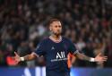 Neymar avec le PSG au Parc des Princes le 19 septembre 2021