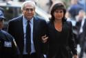 Anne Sinclair au bras de Dominique Strauss-Kahn, le 6 juin 2011 à New York (archives)