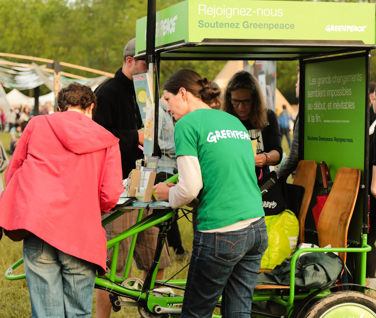 L'ONG environnementale Greenpeace recrute des donateurs