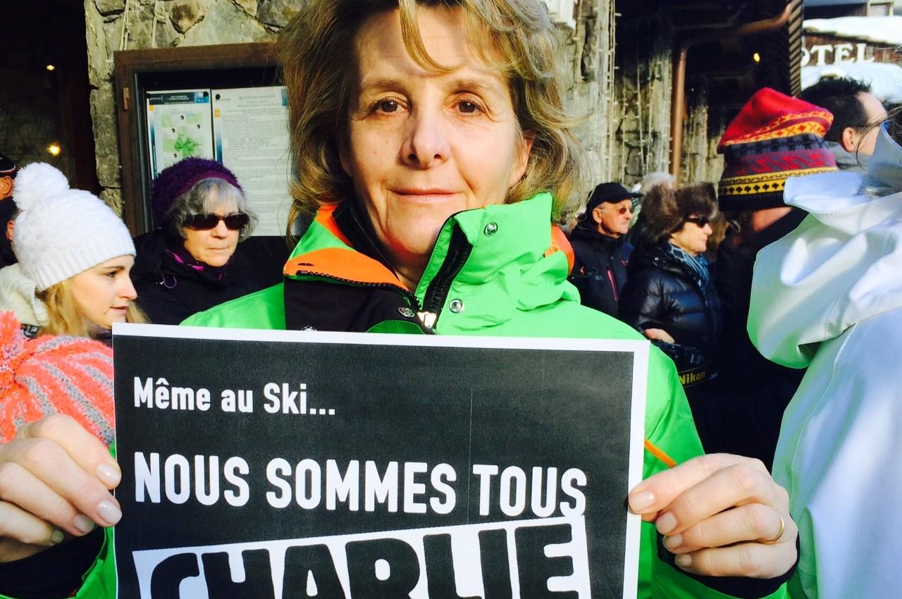 """""""Même au ski nous sommes tous Charlie"""" à Val d'Isère"""