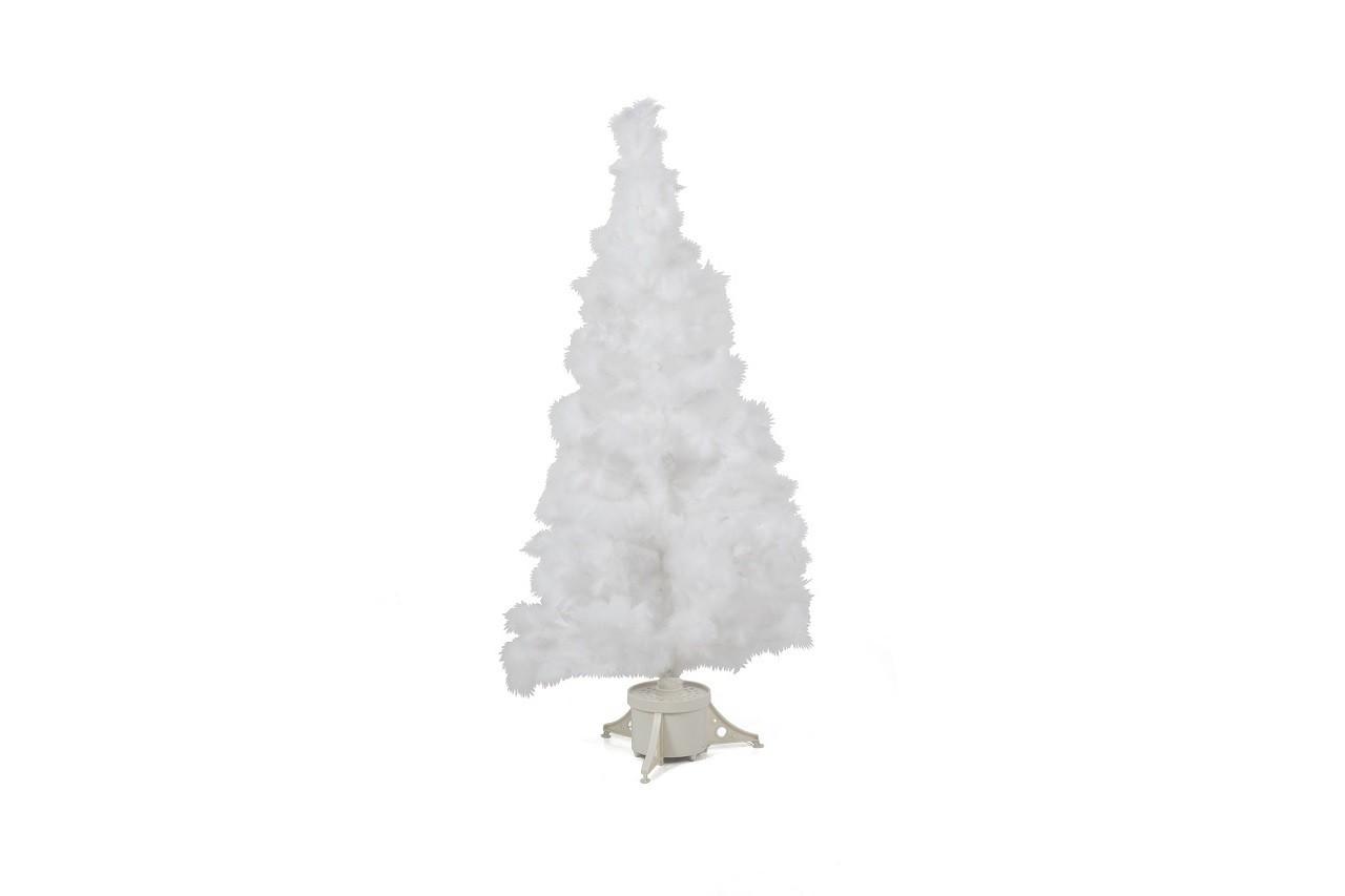 Sapin en plumes blanches et fibre optique, Alinéa