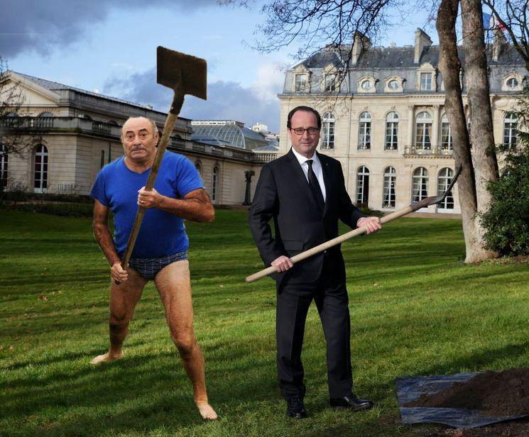 Avec François Hollande à l'Élysée