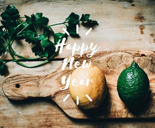 La jolie mise en scène de bonne année de notre cuisinière préférée, Fanny Corre