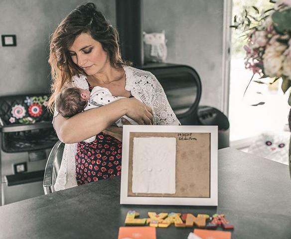 Laëtitia Milot et son bébé Lyana, née le 16 mai 2018