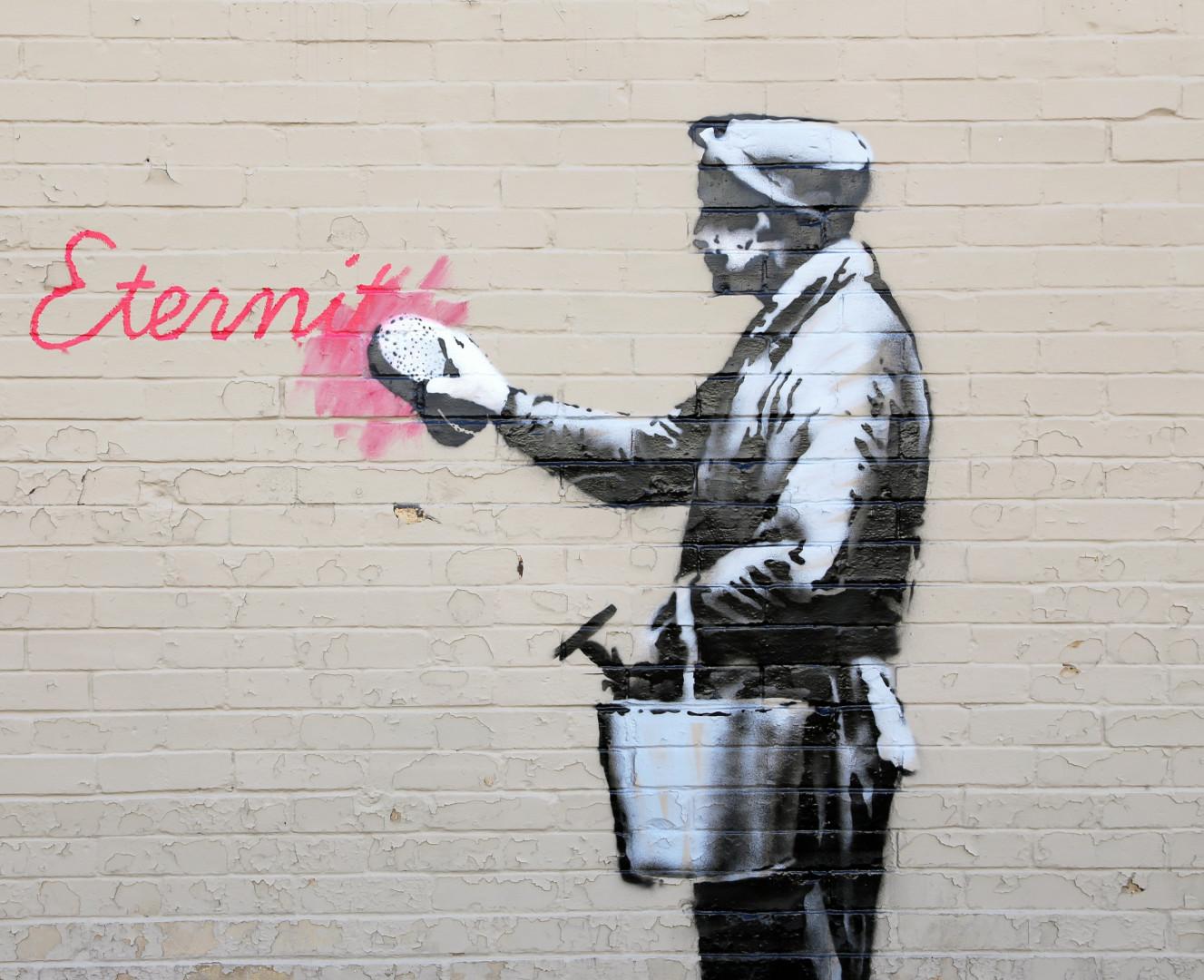 Banksy aurait débuté son art dans les années 80