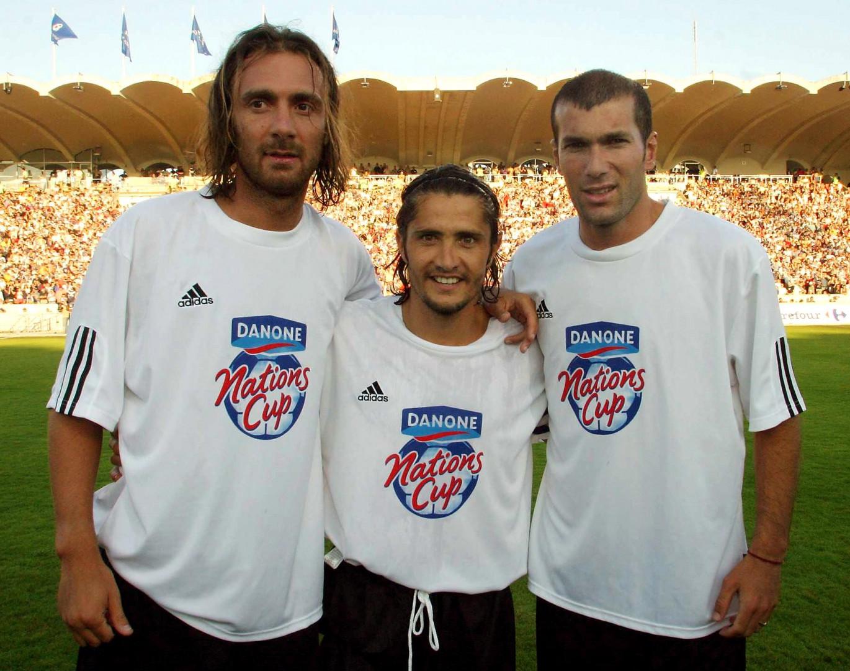 Christophe Dugarry, Bixente Lizarazu et Zinedine Zidane se retrouvent à Chaban-Delmas en juillet 2003