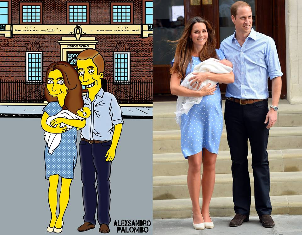 Kate, William et Georges