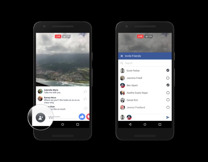 Les utilisateurs pourront inviter leurs amis à visionner un Live