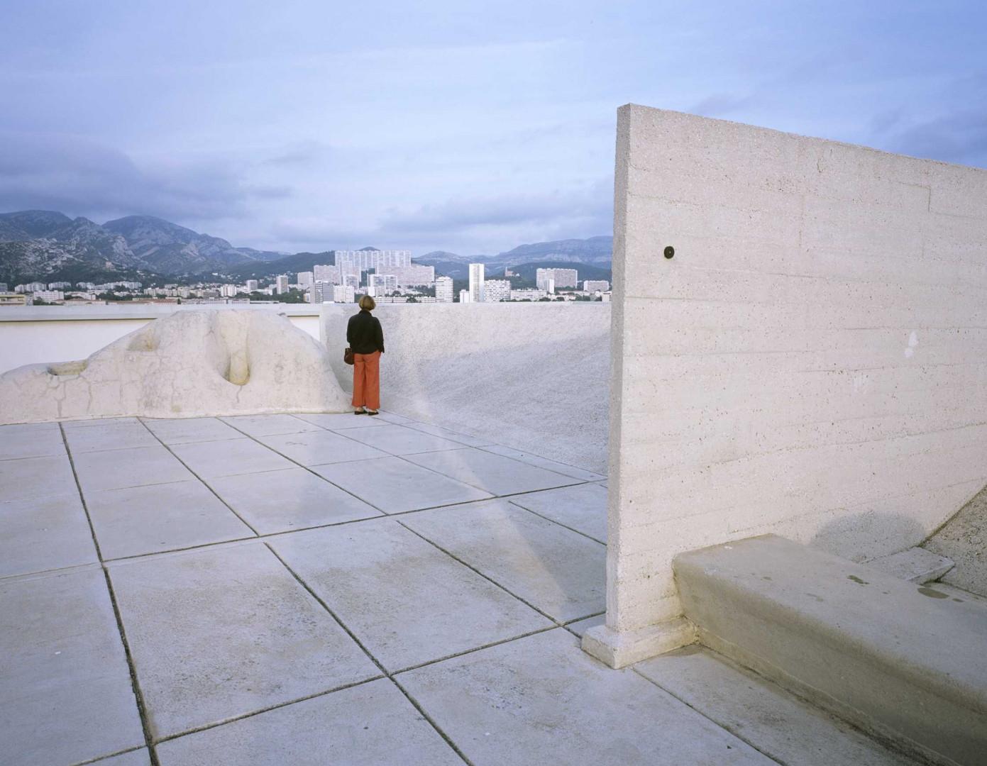 La terrasse de la Cité radieuse (Marseille)