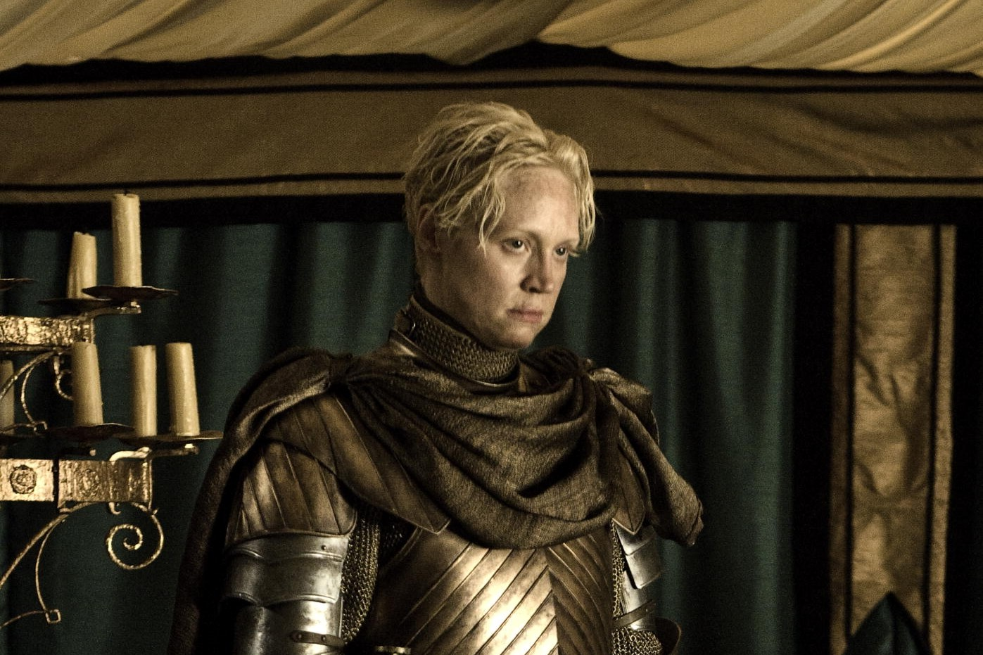 """Gwendoline Christie en Brienne de Torth dans """"Game of Thrones"""""""