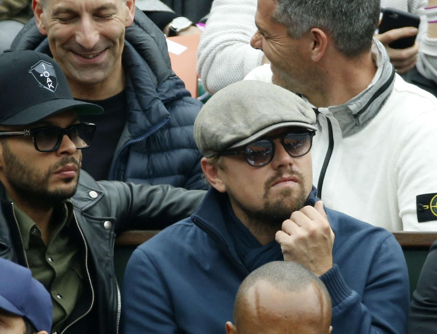 Leonardo DiCaprio est venu à plusieurs reprises à Roland Garros pendant la deuxième semaine du tournoi.