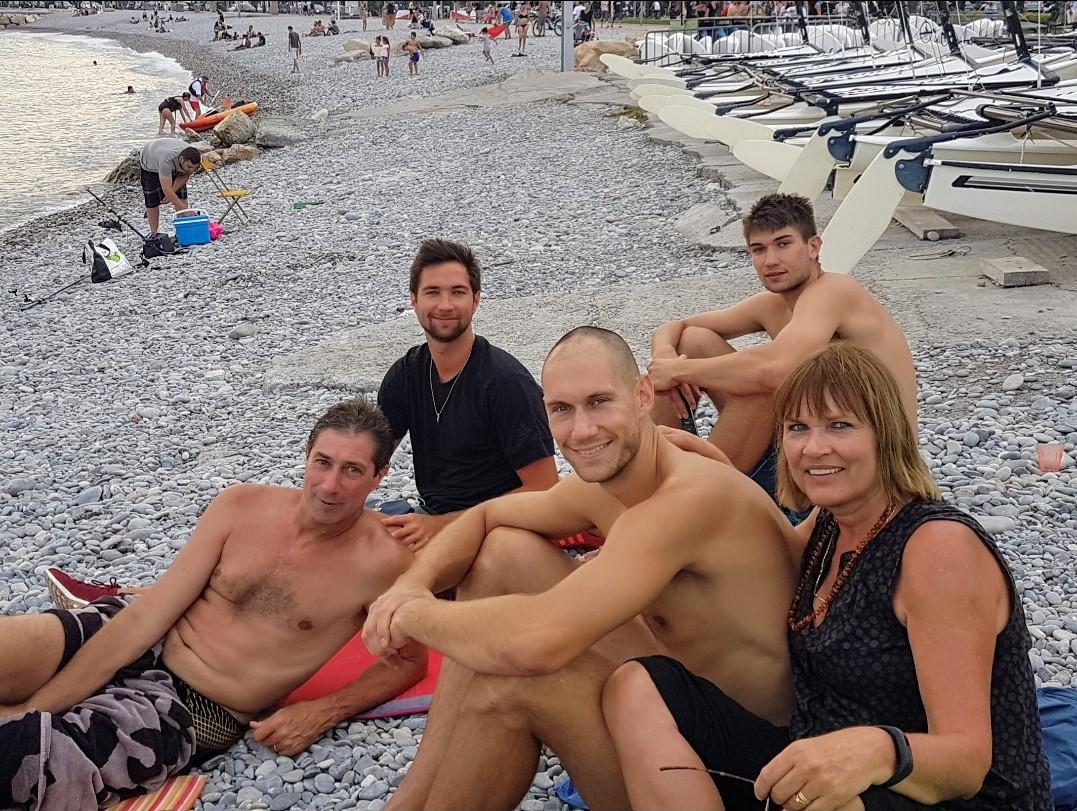 La famille Tillie à la plage