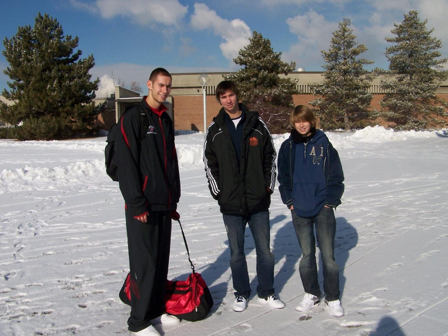 Kim, Kévin et Killian Tillie aux sports d'hiver