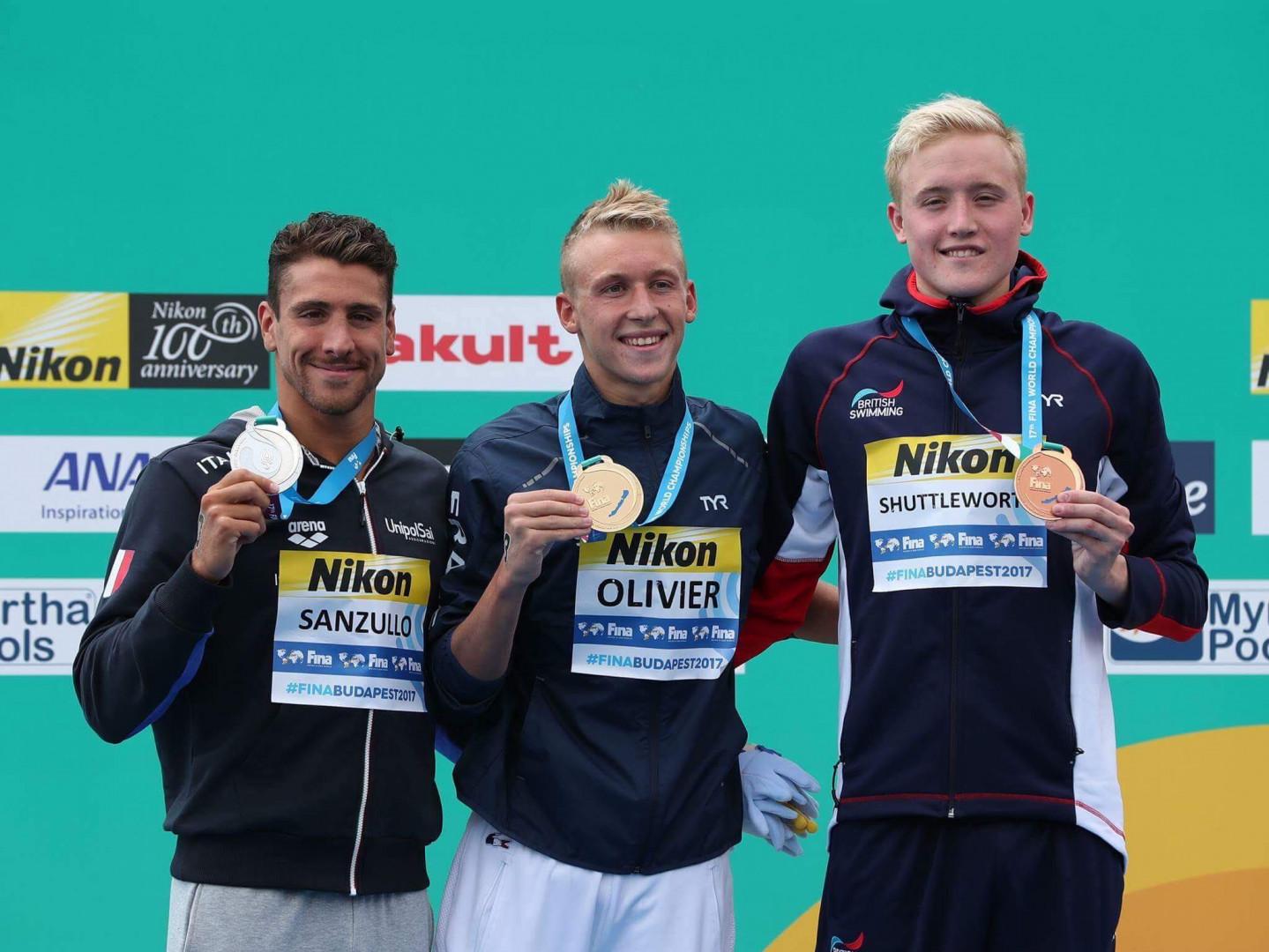 Marc-Antoine champion du monde du 5 km en eau libre en juillet 2017 à Budapest