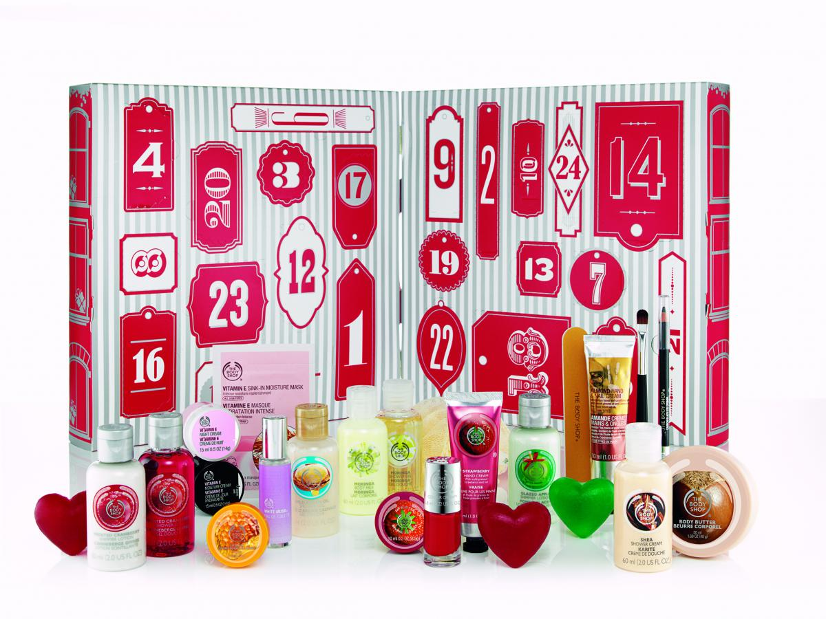 Calendrier de l'avent The Body Shop (produits de beauté)