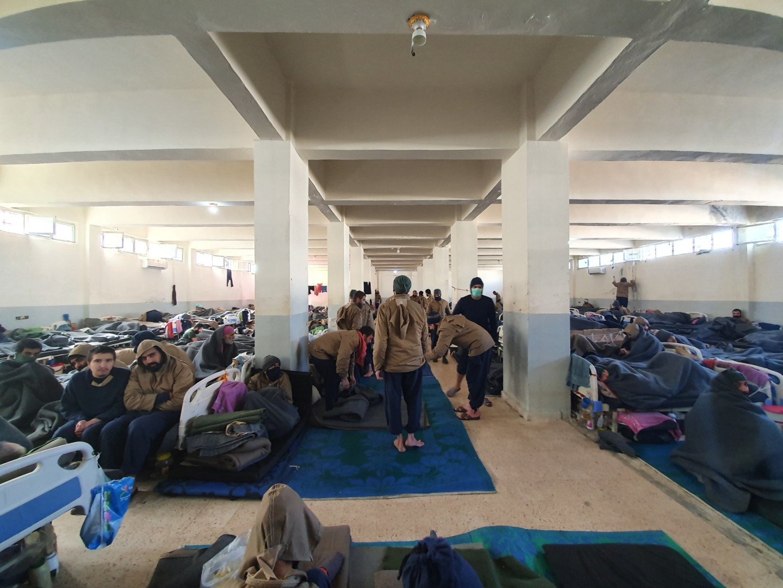 350 djihadistes malades sont regroupés dans cette grande pièce