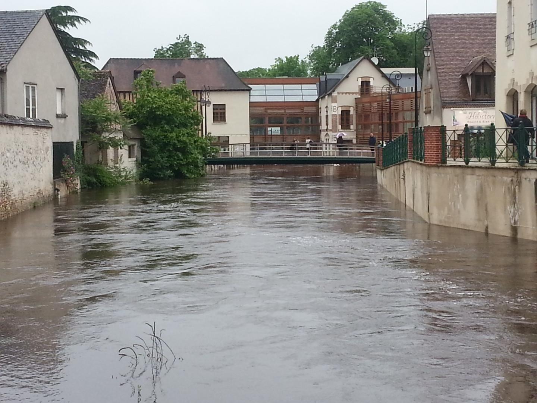 Romorantin (Loir-et-Cher) sous l'eau le 31 mai 2016
