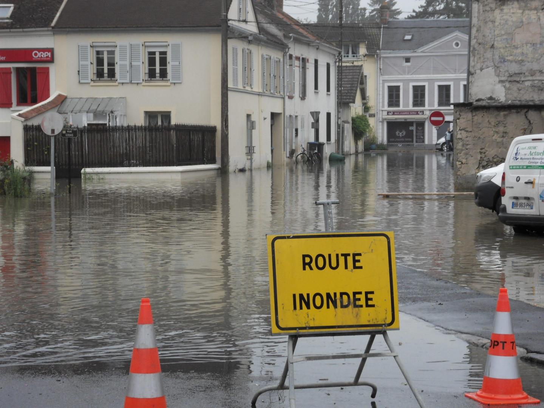 Des inondations à Saint Germain sur Morin en Seine-et-Marne