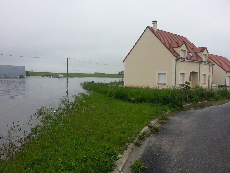 Inondations à Gidy (Loiret) le 3 juin 2016