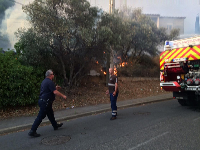 Les pompiers mobilisés sur le secteur des Pennes-Mirabeau