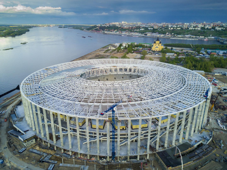 Plusieurs incidents ont émaillé la construction du stade Nijni Novgorod