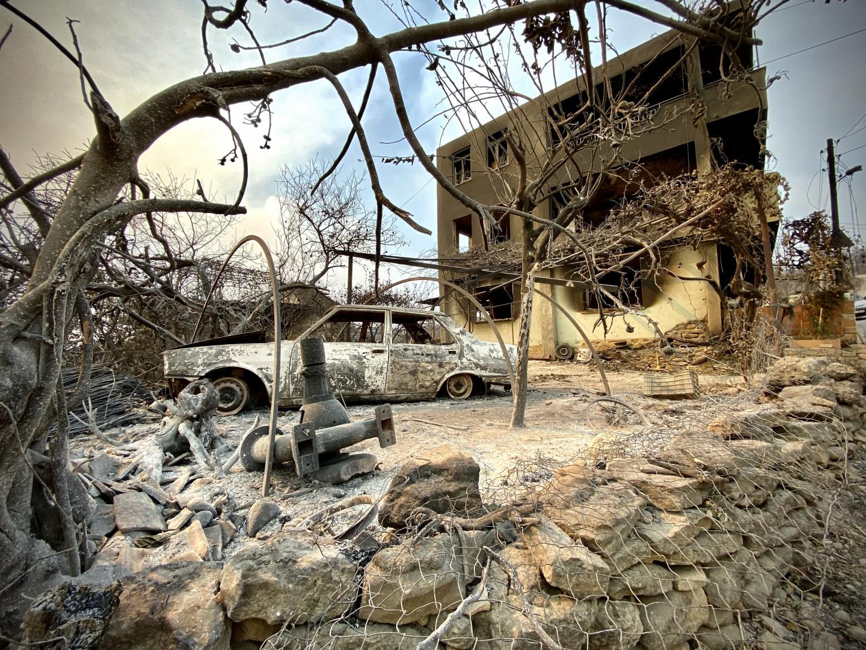 La population a pu constater d'importants dégâts, comme ici le 31 juillet, à Manavgat, dans la région turc d'Antalya.