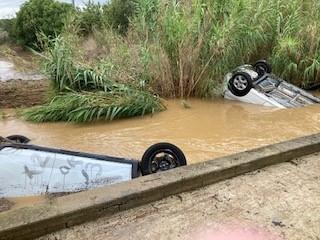 Les voitures n'ont pas résisté aux intempéries dans le Gard