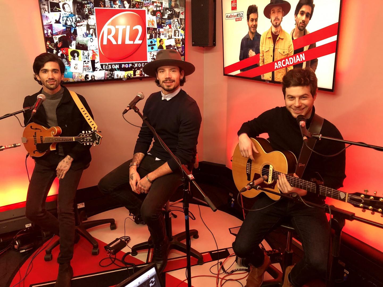 Arcadian dans les studios de RTL2