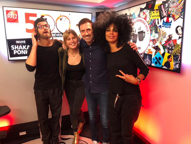 Shaka Ponk invité de la 500e du Double Expresso RTL2