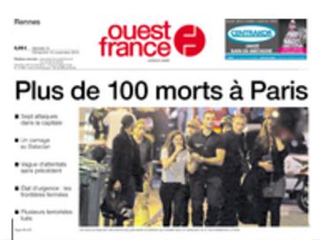 """""""Ouest-France"""" étale le nombre provisoire de morts"""