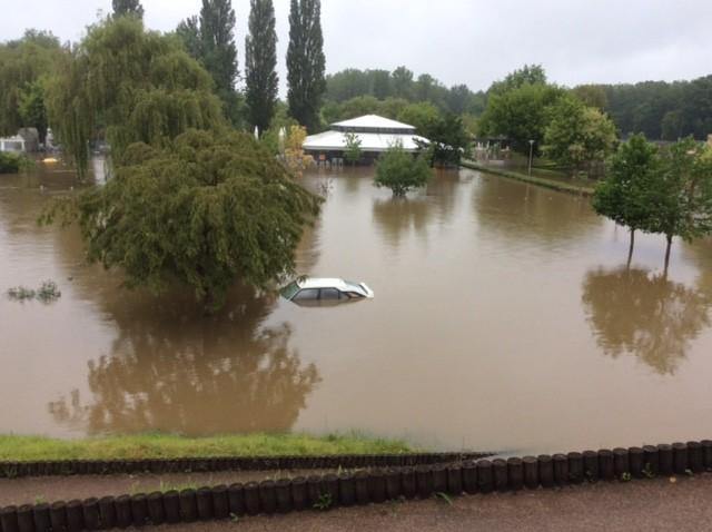 Inondations à Montbazon (Indre-et-Loire) le 3 juin 2016