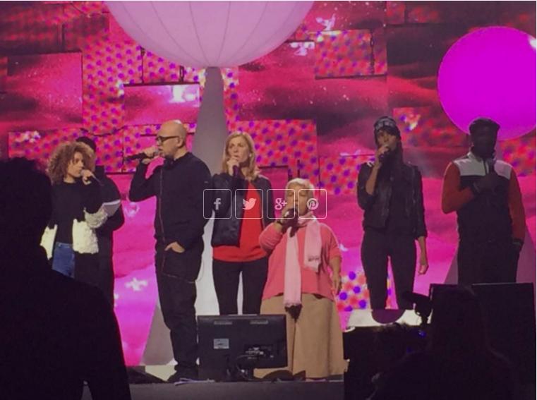 Tal, Pascal Obispo, Michèle Laroque, Mimie Mathy, Shy'm, Mc Solaar sur scène