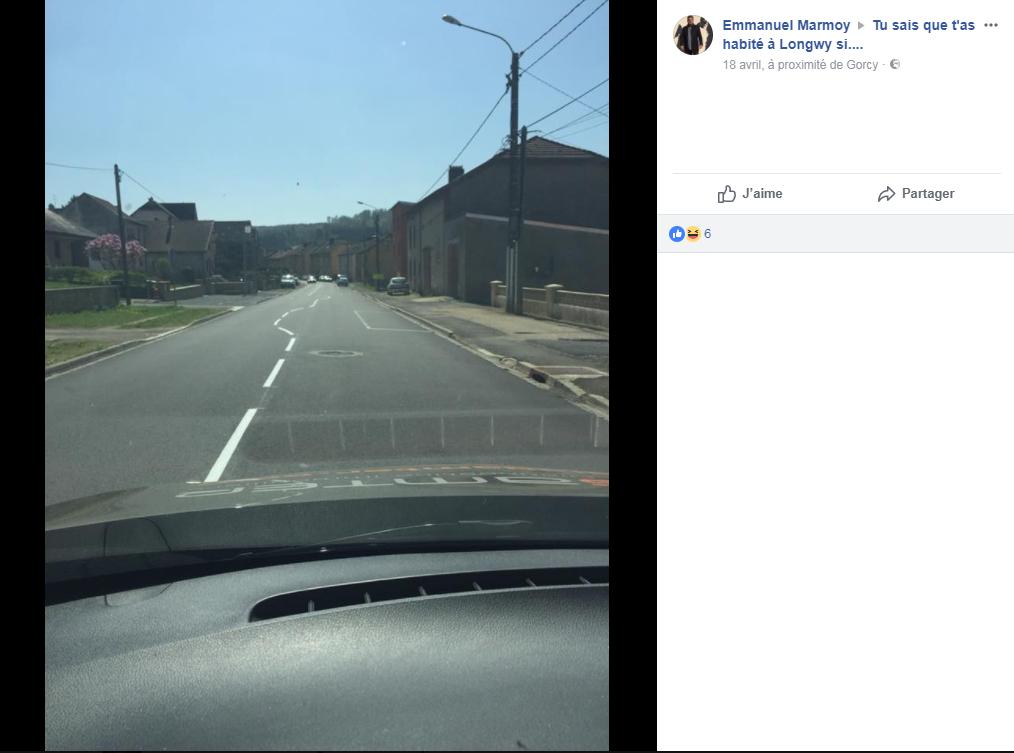 La route de Gorcy fait rire les internautes