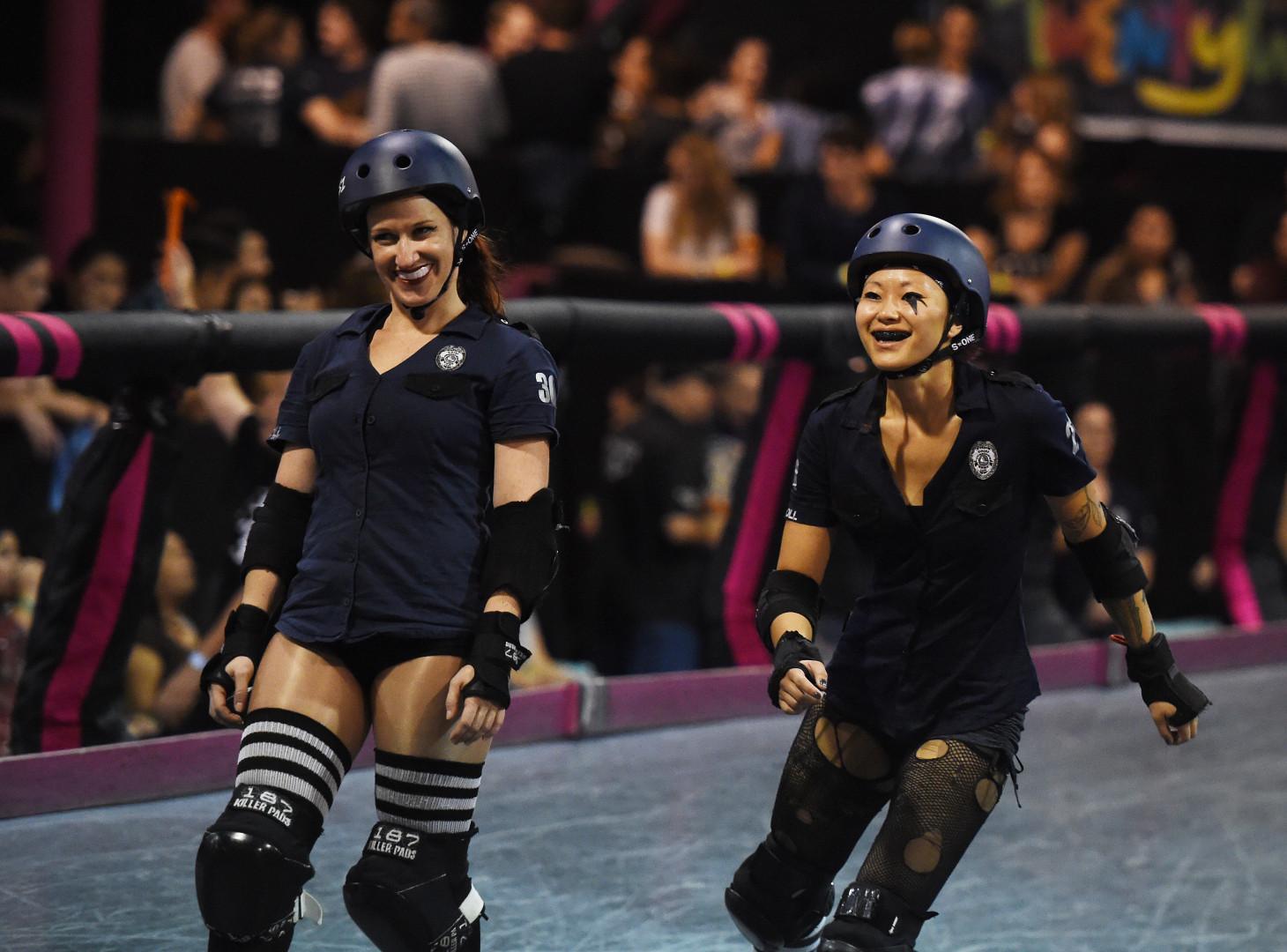 Le roller derby, un sport de contacts