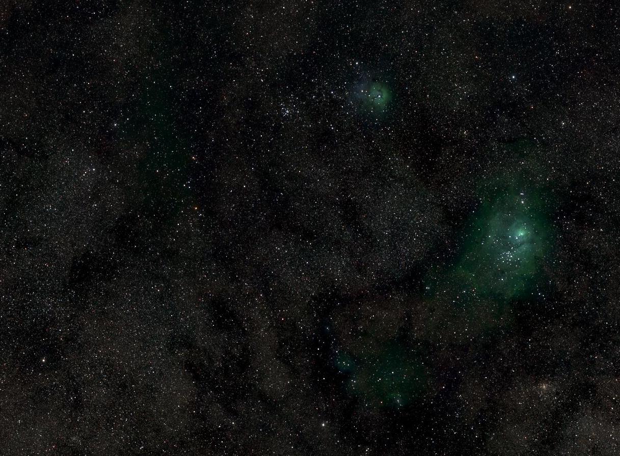 Des images de la Voie lactée affichent quelques nuances de vert
