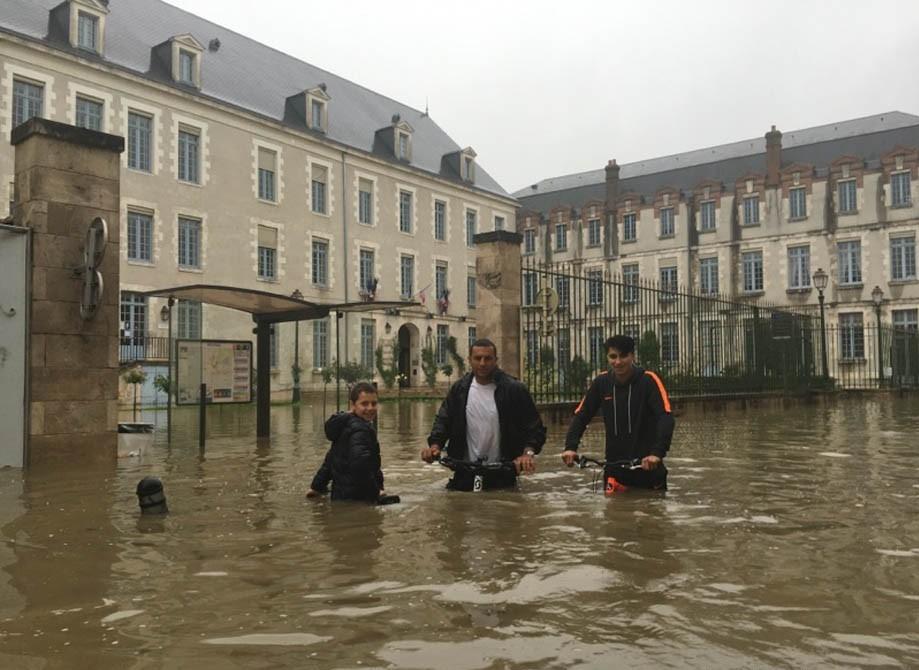 Inondations à Montargis le 1er juin 2016