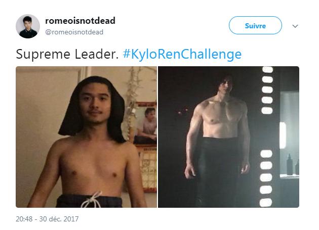 """Très vite, d'autres internautes ont reproduit la pose de Kylo Ren dans """"Star Wars 8"""""""
