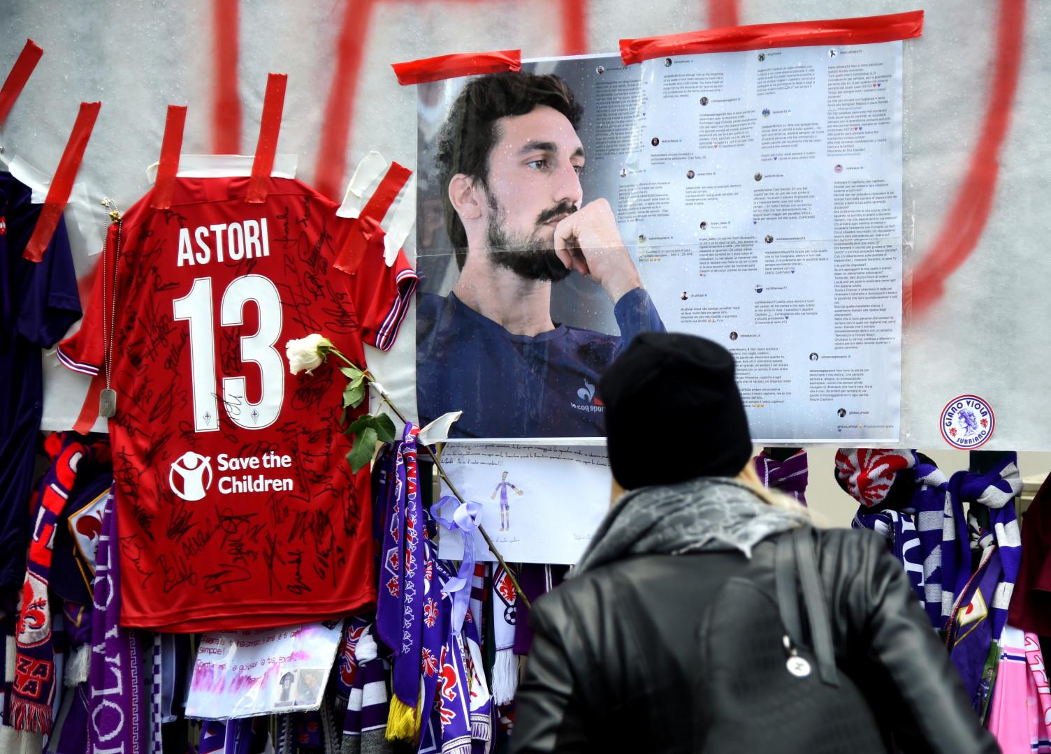 Davide Astori, défenseur central, évoluait à la Fiorentina depuis août 2015