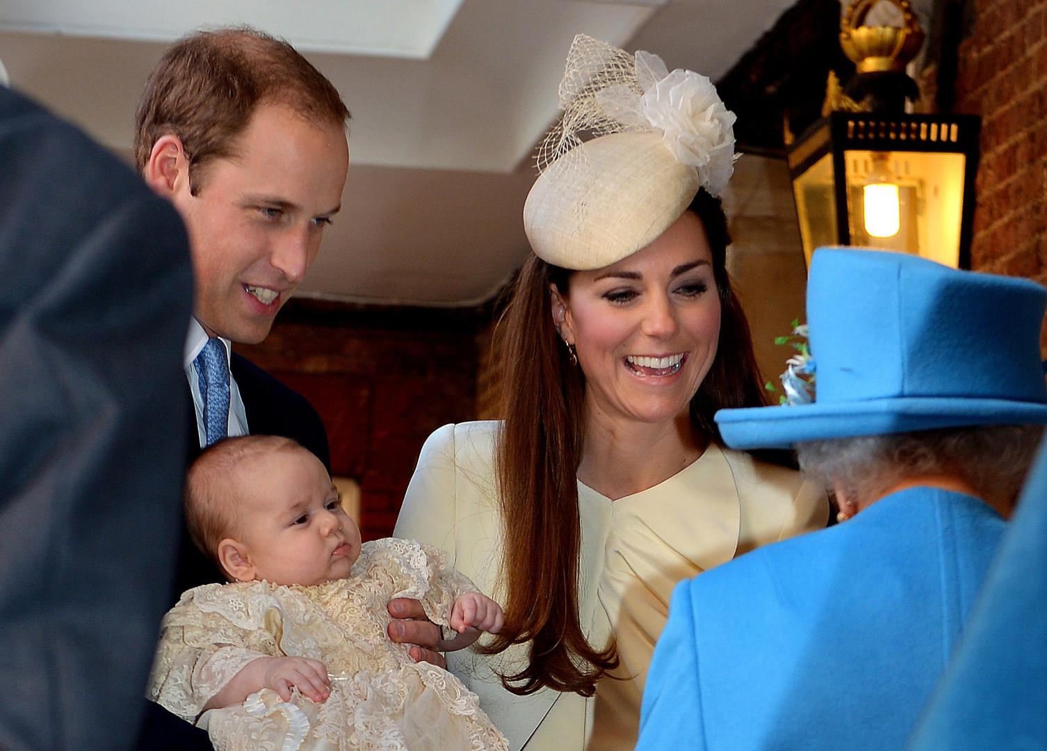 18. Au baptême de prince George en 2013
