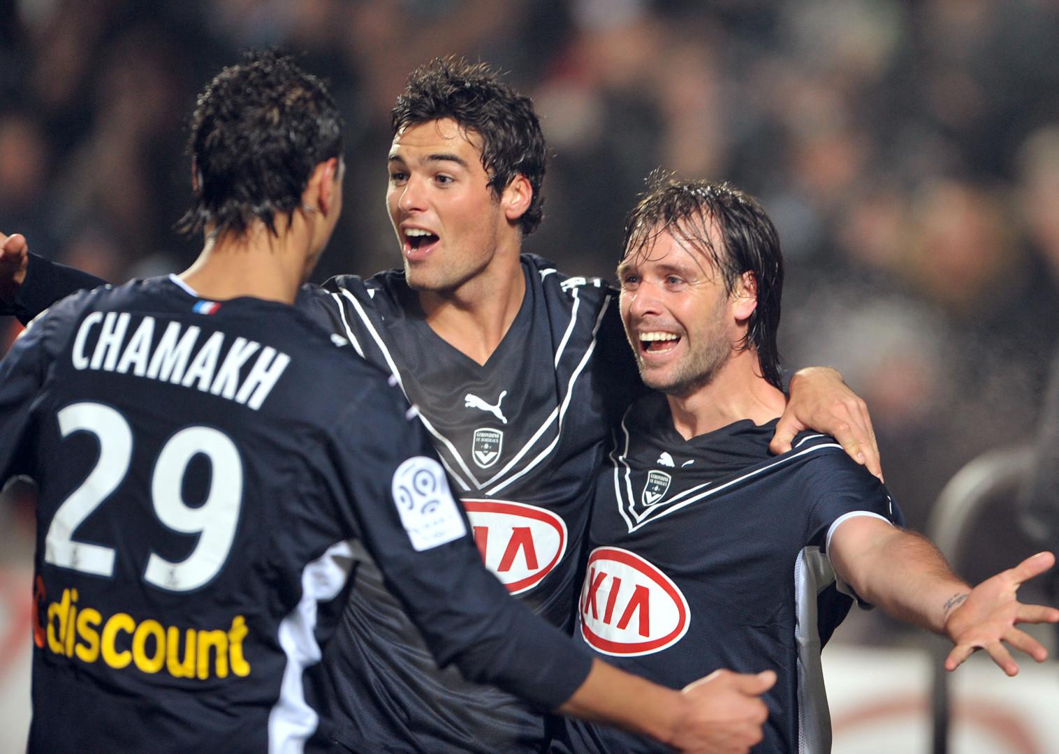 Marouane Chamakh, Yoann Gourcuff et Fernando Cavenaghi, grands artisans du titre de champion de Bordeaux en 2009