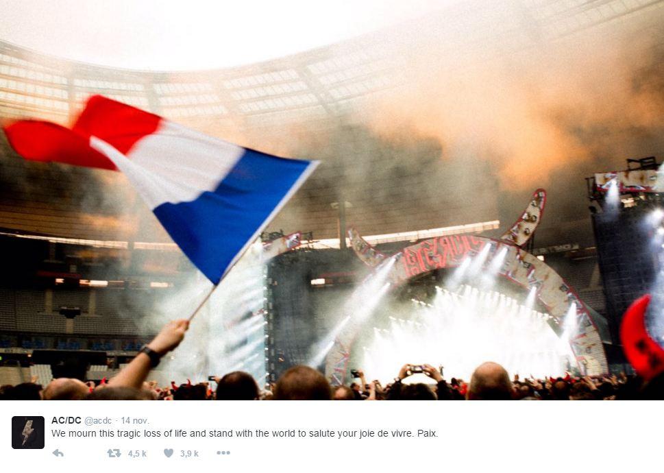 AC-DC a partagé une belle image de leur concert au Stade de France